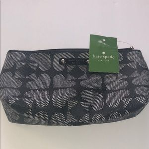 Kate Spade pebbled ace of spades cosmetic bag
